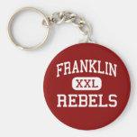 Franklin - rebeldes - alto - Franklin Tennessee Llavero Personalizado