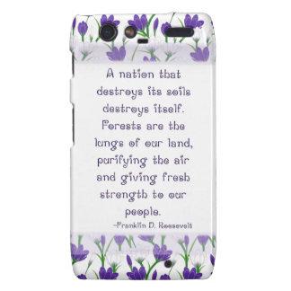 Franklin Roosevelt Quote- Spring Crocus Flowers Droid RAZR Covers