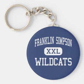 Franklin Simpson - gatos monteses - alto - Frankli Llavero Redondo Tipo Pin