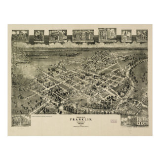 Franklin Southampton County Virginia Map (1907) Print