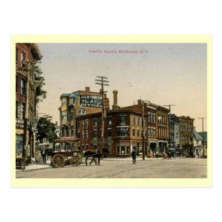 Franklin Square, Middletown, New York Vintage Postcard