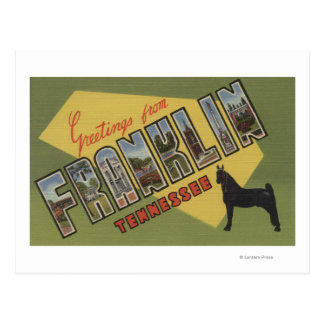 Franklin Tennessee - Large Letter Scenes Postcard
