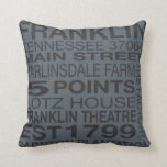 Franklin Tennessee Pillow in Gray