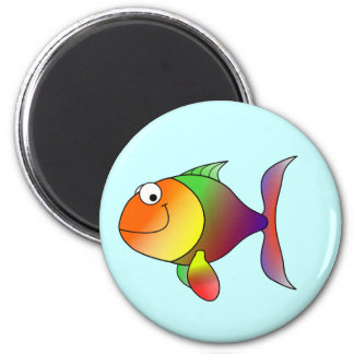 Franklin the Funky Fun Cartoon Fish 2 Inch Round Magnet