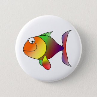 Franklin the Funky Fun Cartoon Fish Pinback Button