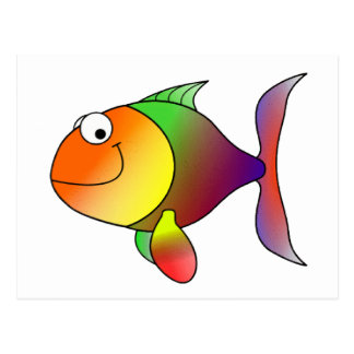 Franklin the Funky Fun Cartoon Fish Postcard