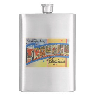 Franklin Virginia VA Old Vintage Travel Postcard- Flask