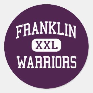 Franklin - Warriors - High - Somerset New Jersey Classic Round Sticker