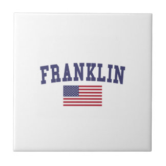 Franklin WI US Flag Ceramic Tile