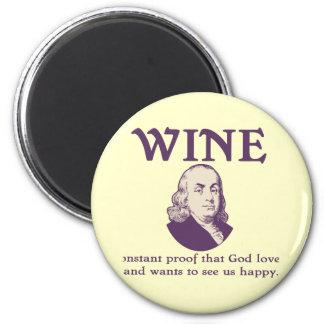 Franklin - Wine Magnet