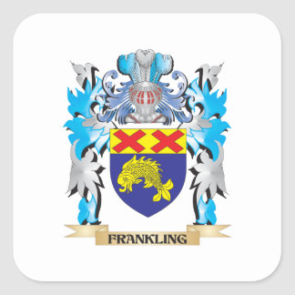 Frankling Coat of Arms - Family Crest Square Sticker