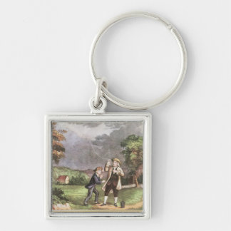 Franklin's experiment in electricity keychain