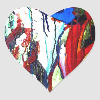 Franklin's Mountain Heart Sticker