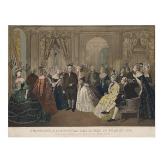 Franklin's Reception at the Court of France Post Card