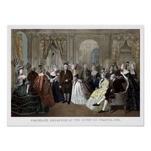 Franklin's Reception At The Court Of France Print