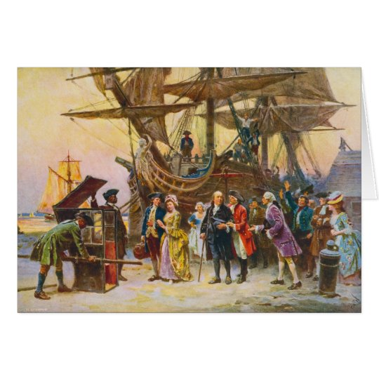 Franklin's Return to Philadelphia by Jean Ferris Card