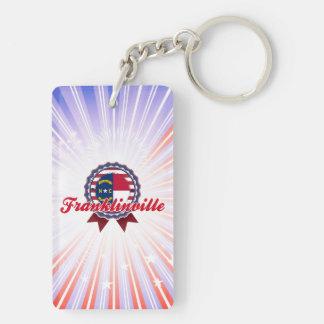 Franklinville, NC Llavero Rectangular Acrílico A Doble Cara