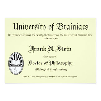 Franknstein diploma graduation invitation invitations