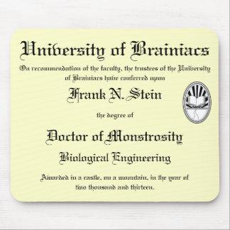 Franknstein diploma mousepad