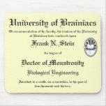 Franknstein diploma mousepad mousepad