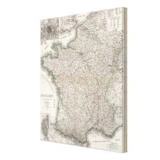 Frankreich - Francia Impresión En Lienzo Estirada