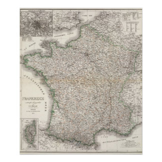 Frankreich - Francia Póster
