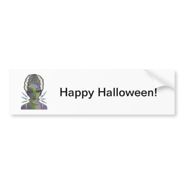 Halloween Themed Franks Bride Bumper Sticker