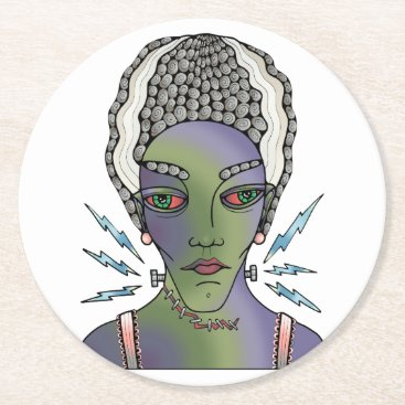 Franks Bride Round Paper Coaster