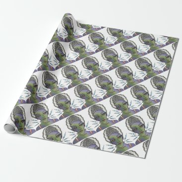 Halloween Themed Franks Bride Wrapping Paper