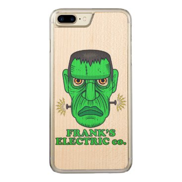 Halloween Themed Frank's Electric Company Carved iPhone 7 Plus Case