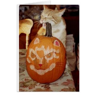 Frank's Pumpkin Greeting Card