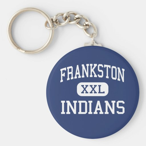 Frankston - Indians - High - Frankston Texas Basic Round Button Keychain