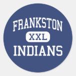 Frankston - indios - alto - Frankston Tejas Pegatina Redonda