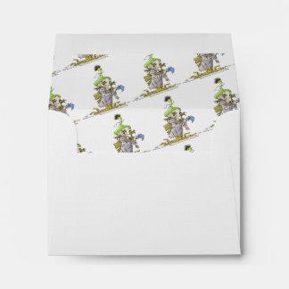 FRANKY BUTTER  CARTOON A2 Note Card Envelope LINEN