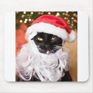 Franny Claus Sad Santa Kitty Mouse Pad
