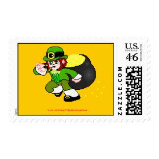 Franqueo 5 del Leprechaun del pixel