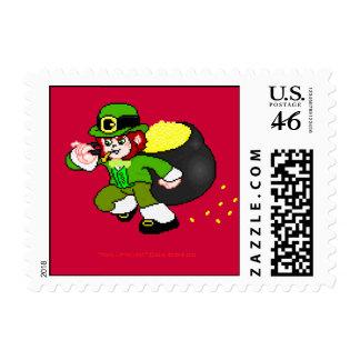 Franqueo 7 del Leprechaun del pixel