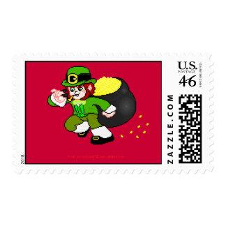 Franqueo 8 del Leprechaun del pixel