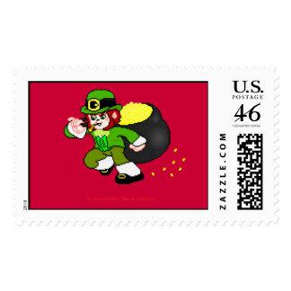 Franqueo 9 del Leprechaun del pixel