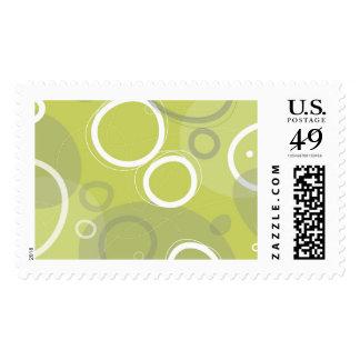 Franqueo abstracto de la menta sello postal