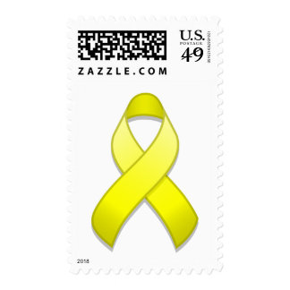 Franqueo amarillo de la cinta de la conciencia