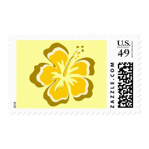 Franqueo amarillo de la flor