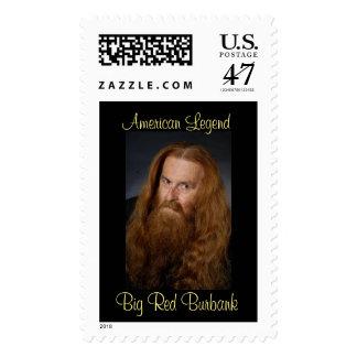 Franqueo americano de BigRed Burbank de la leyenda Sellos Postales