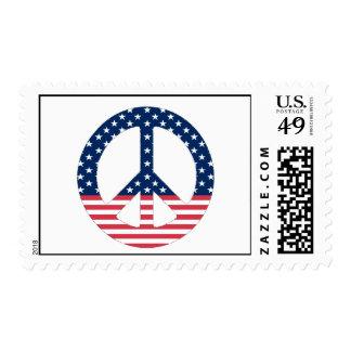 Franqueo americano del signo de la paz