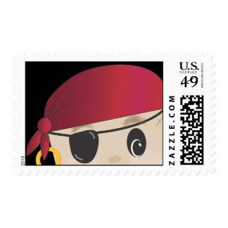 Franqueo amistoso del pirata sello postal