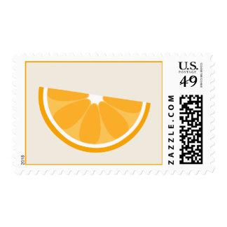 Franqueo anaranjado de la cuña sello postal