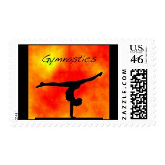 Franqueo anaranjado de la gimnasia