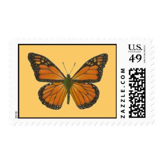 Franqueo anaranjado de la mariposa