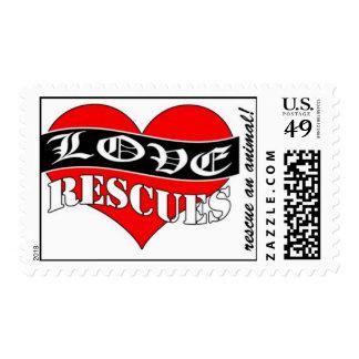 Franqueo animal del rescate sellos