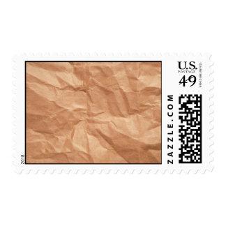 Franqueo arrugado del diseño de la bolsa de papel